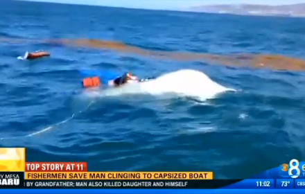 Charter captain saves capsize victim off point loma video for Point loma fish count