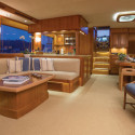 The interior space on this Fleming 58 brings all the comforts of home.