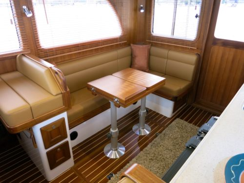 Saloon table and seating.